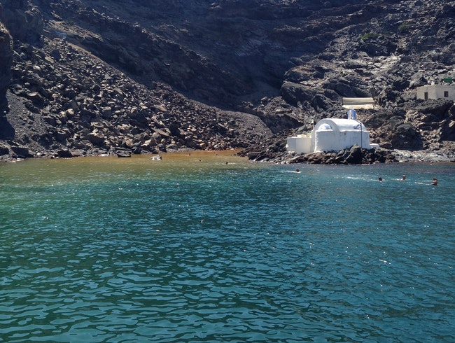 Hot Springs in Santorini