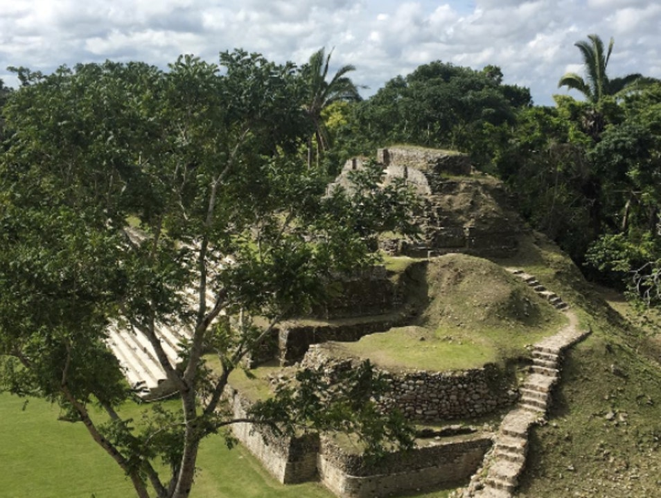 Altun Ha, the Mayan Treasury Rock Stone Pond  Belize