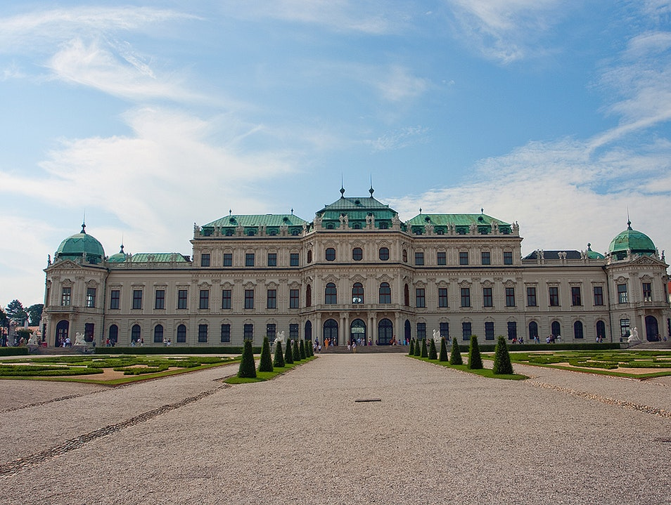 The other side of Upper Belvedere Vienna  Austria