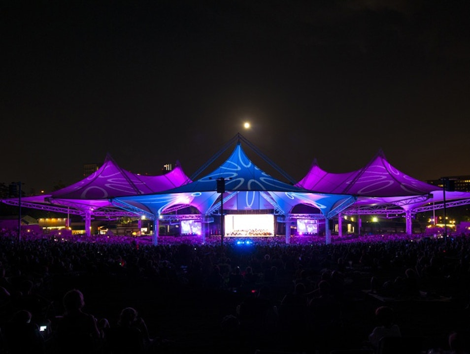 An Outdoor Ampitheater: The Cynthia Woods Mitchell Pavilion Spring Texas United States