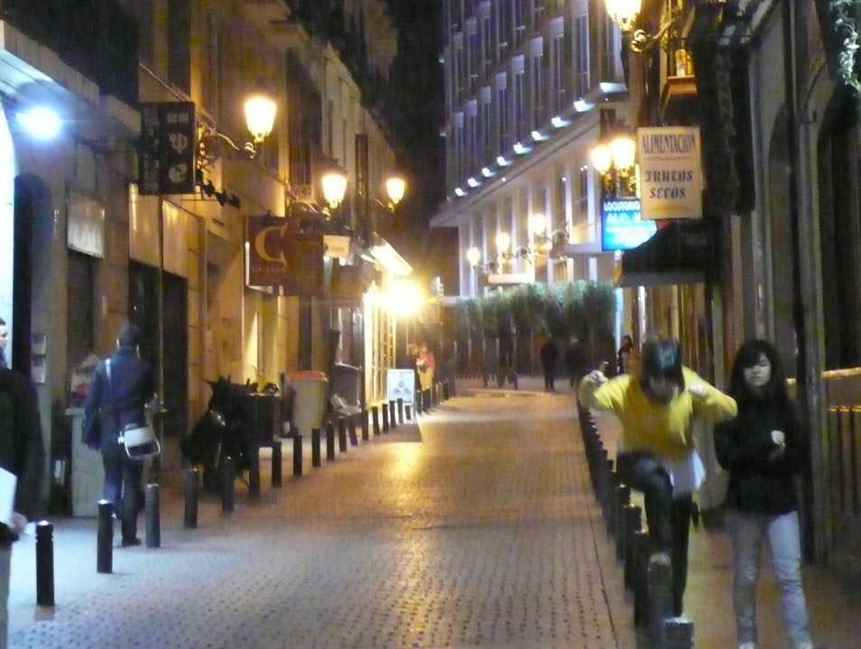 Side street off the Plaza Santa Ana, Madrid. Madrid  Spain