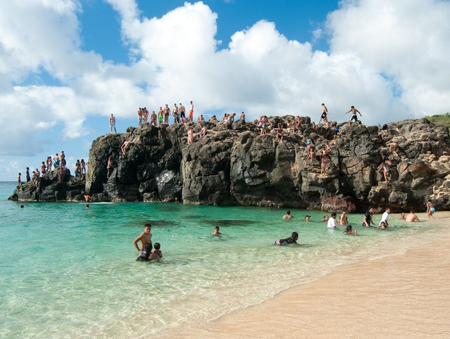 Cliff Jumping on Oahu's North Shore