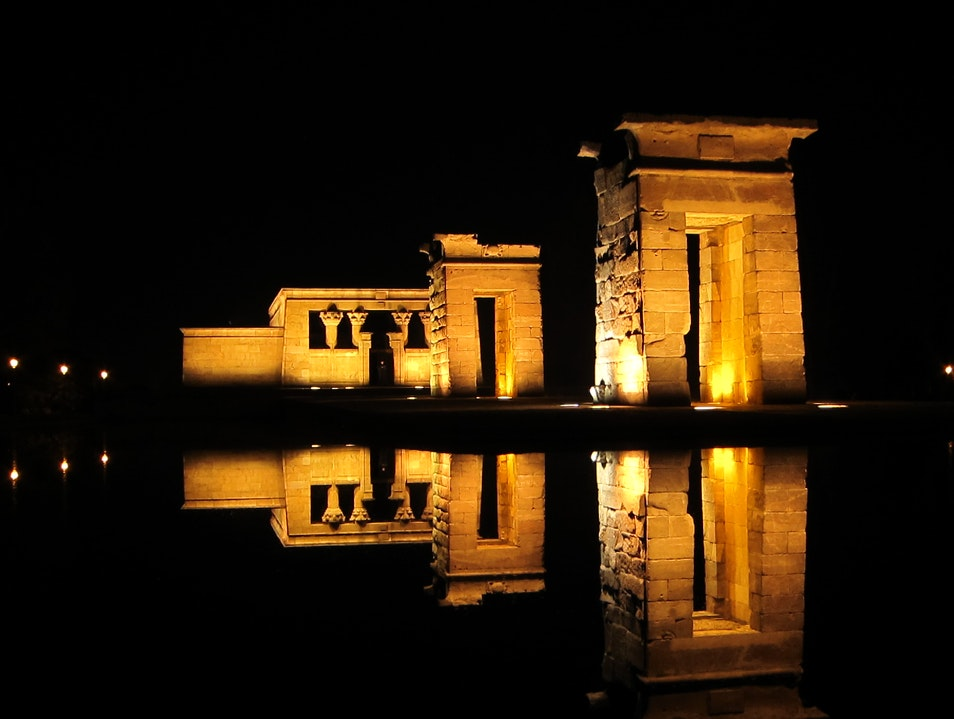 An Egyptian Temple Overlooking Madrid Madrid  Spain