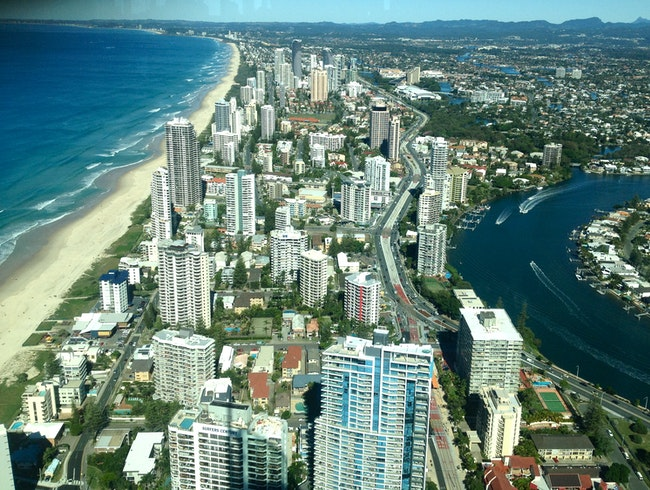 The best view of the Gold Coast is in Surfers Paradise