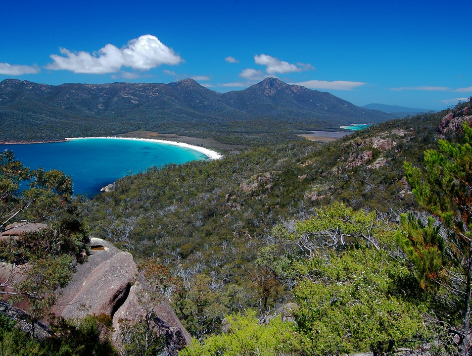 No Whining at Wineglass Bay Freycinet  Australia