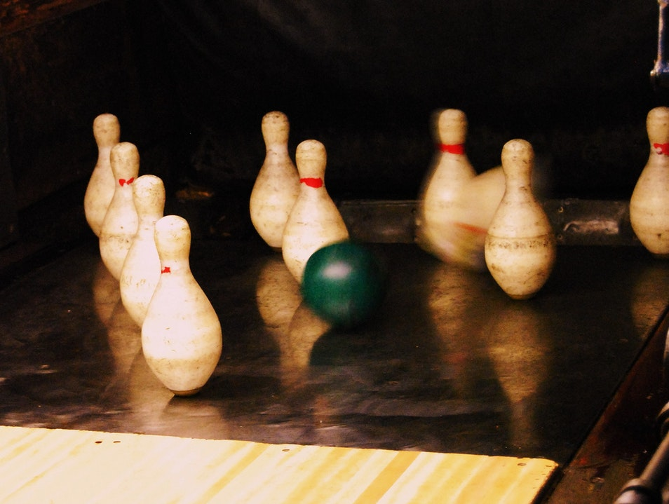 Duckpin Bowling in Baltimore Baltimore Maryland United States