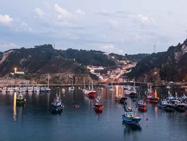 Take a Cruise on Cudillero Harbor, Asturias, Spain.