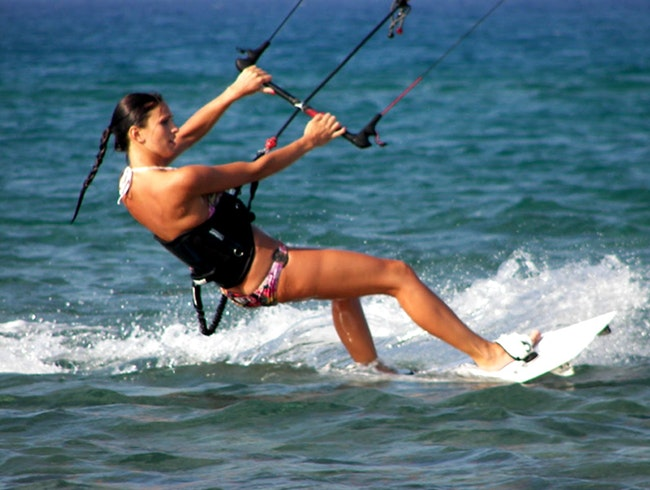 Kite Surfing in Yucatan