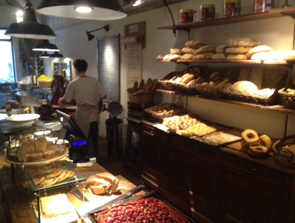Delicious bread and cakes in Santo Spirito Florence  Italy