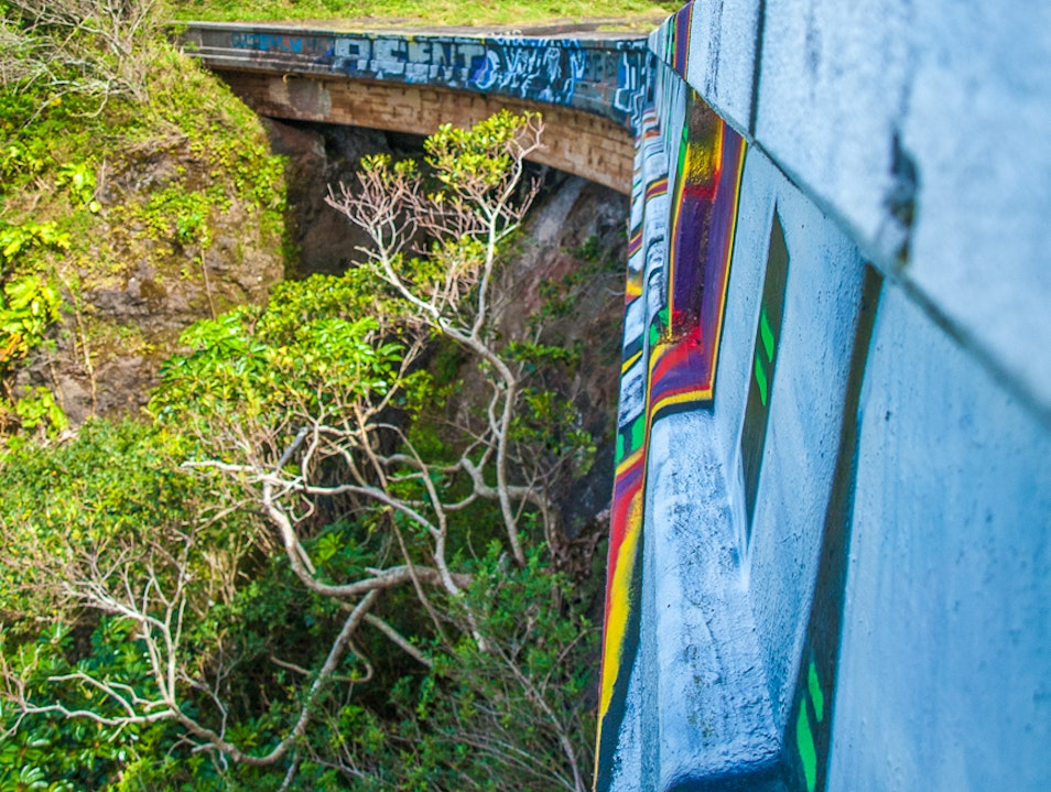 Old Pali Highway Turned Hiking Trail