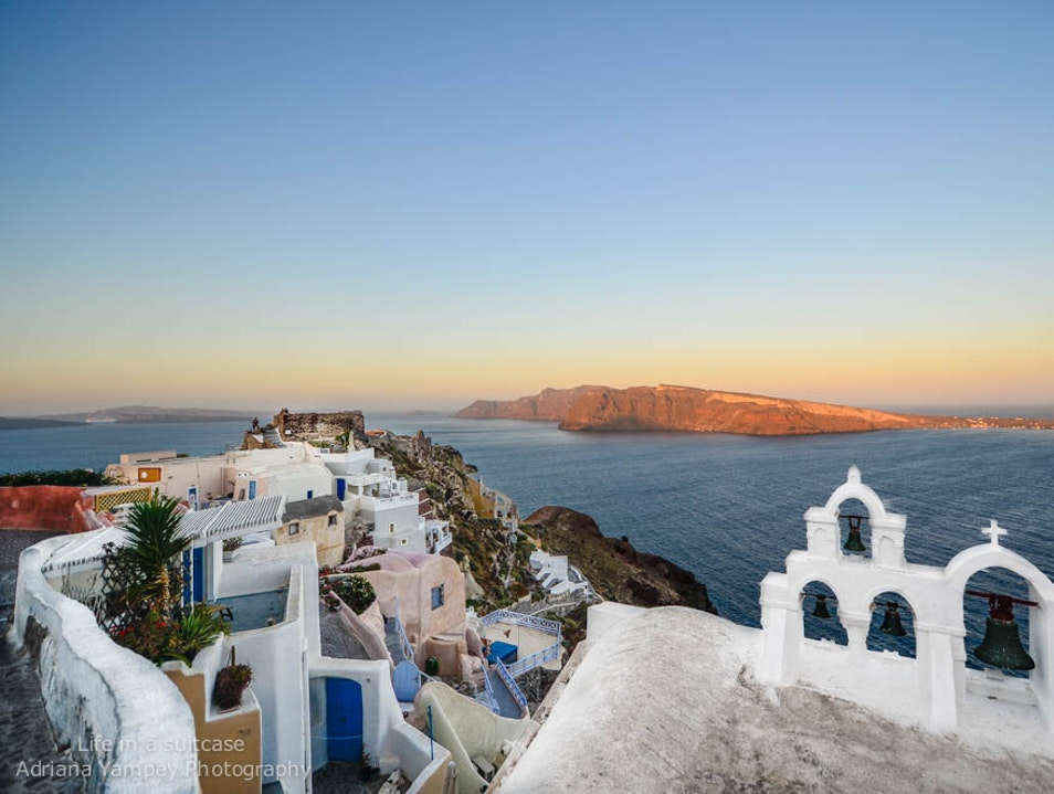 Castle view  Oia  Greece