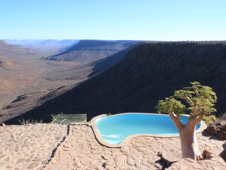 Taking in the Views at Grootberg Lodge