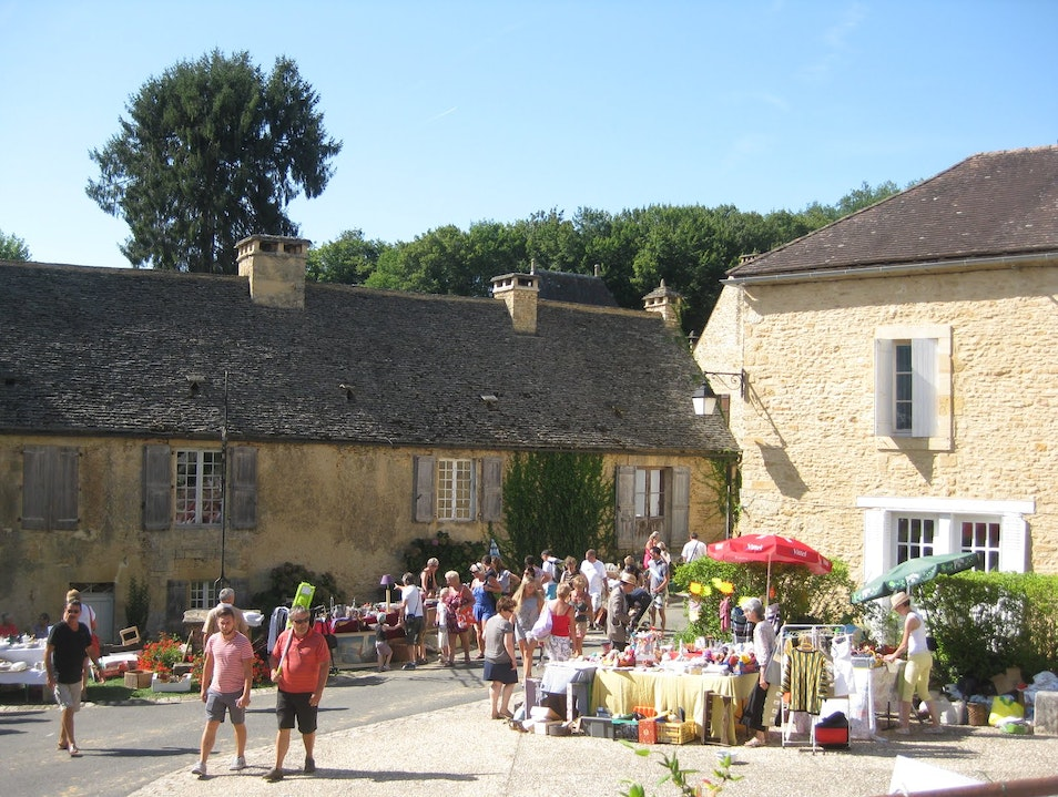 Spending the day at a `vide grenier`  Saint Geniès  France