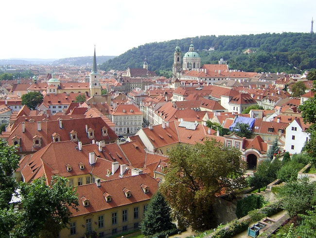 The view of the city from the steps to Prague Castle