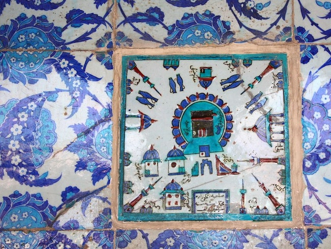 beautiful hand made iznik tiles of Rustempasha mosque