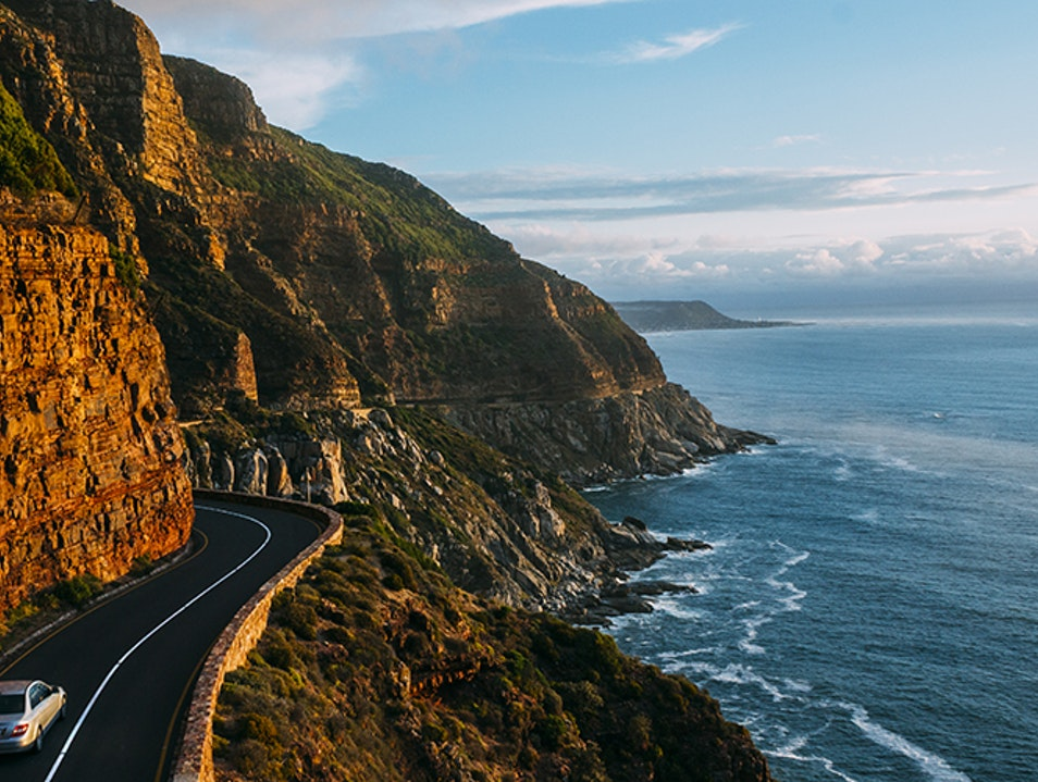 Driving the Cape Peninsula Cape Town  South Africa