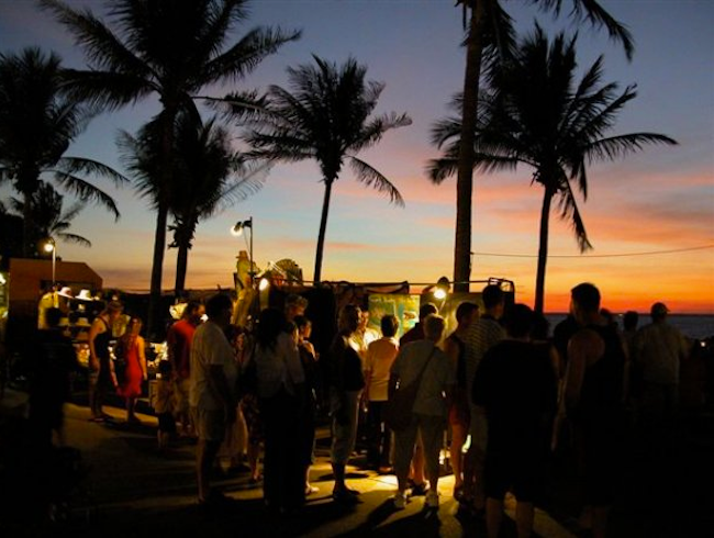 Sunset markets in balmy Darwin