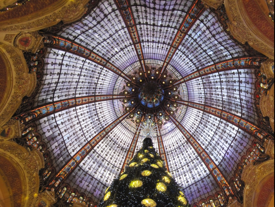 Galeries Lafayette At Christmas Paris  France