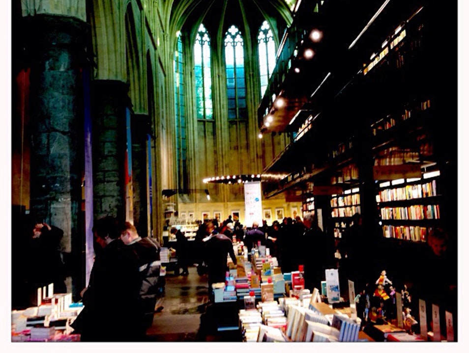 Bookstore in Church Maastricht  The Netherlands