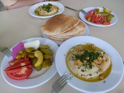 The Hummus Shops of Old Akko Acre  Israel