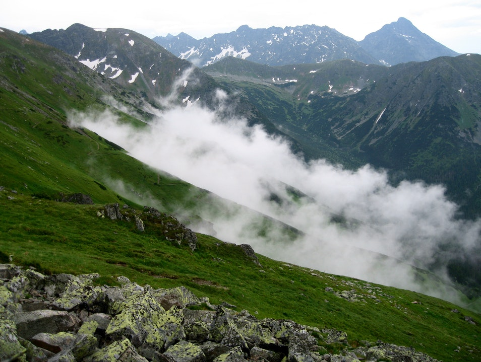Looking Down on Polish Clouds Zakopane  Poland