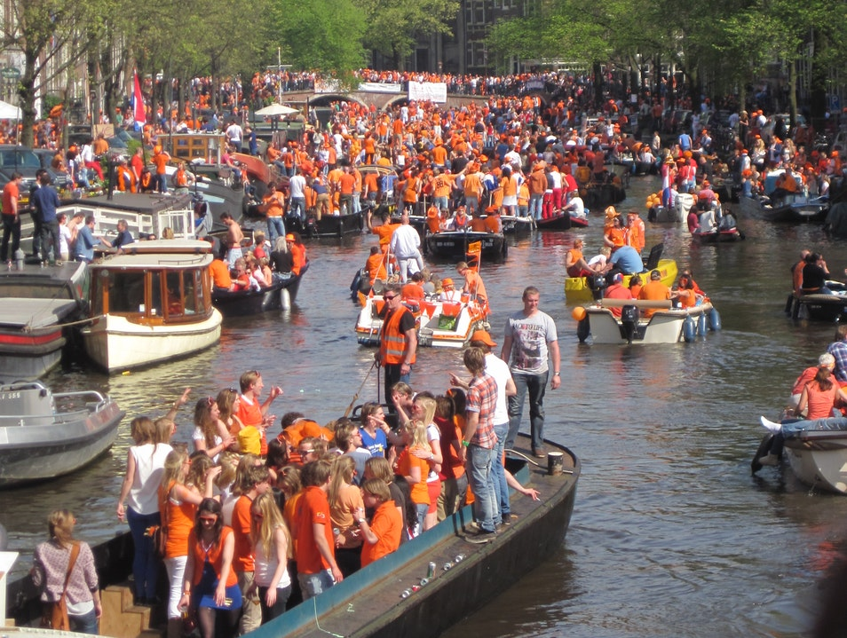 Queens Day Amsterdam  The Netherlands