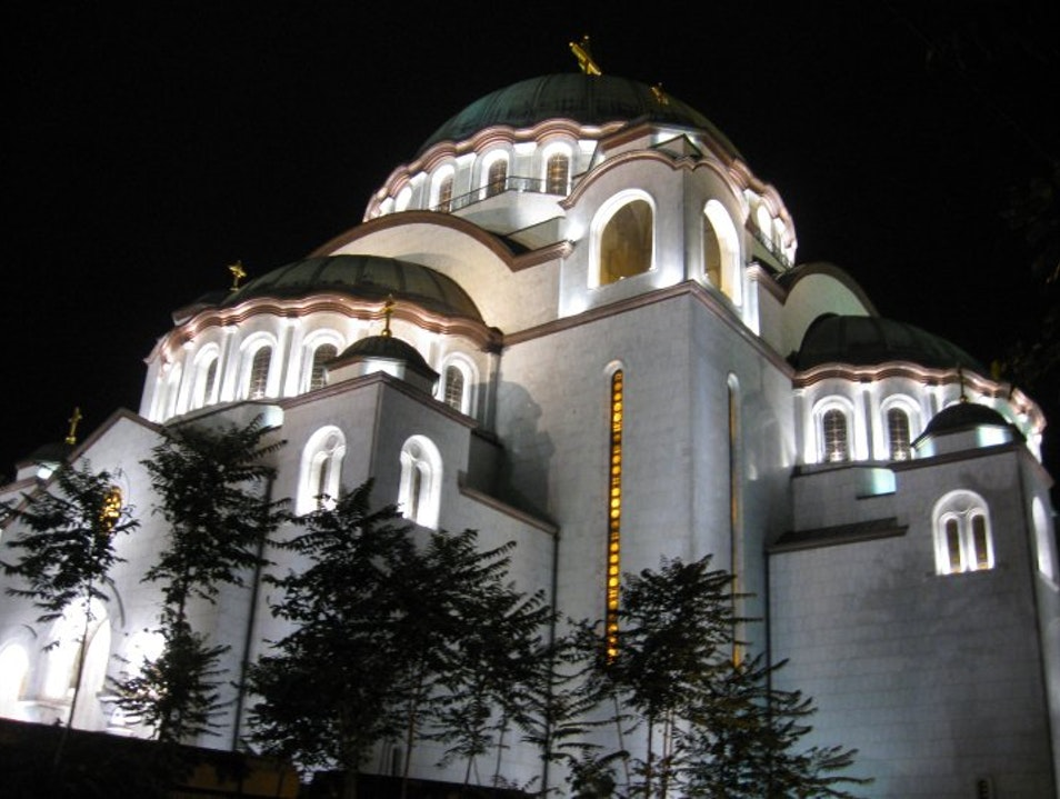 Cathedral of St. Sava at Night Belgrade  Serbia