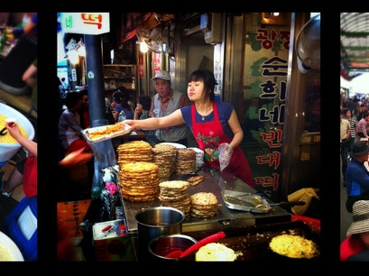 광장시장 Gwangjang Market, Seoul Seoul  South Korea