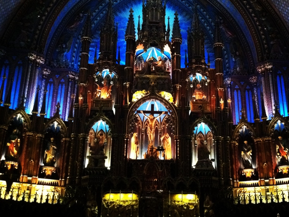 Inside Notre Dame Montreal  Canada