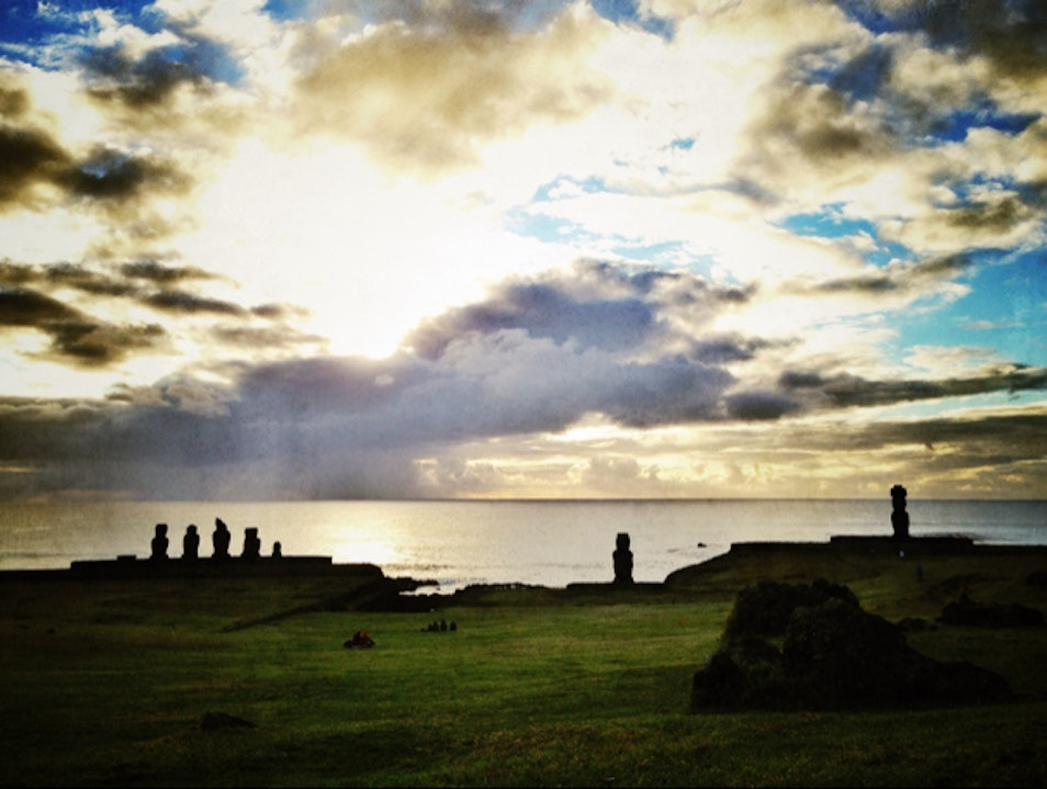 Sunset with the Locals on Easter Island Isla de Pascua  Chile