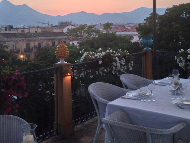 Rooftop Dining In Palermo, Sicily