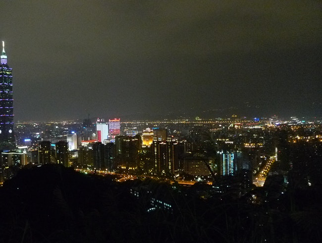 hike up elephant mountain for a beautiful view of taipei.