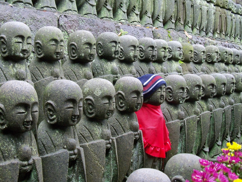 Jizo, the Fancy Buddhist Guardian Kamakura  Japan