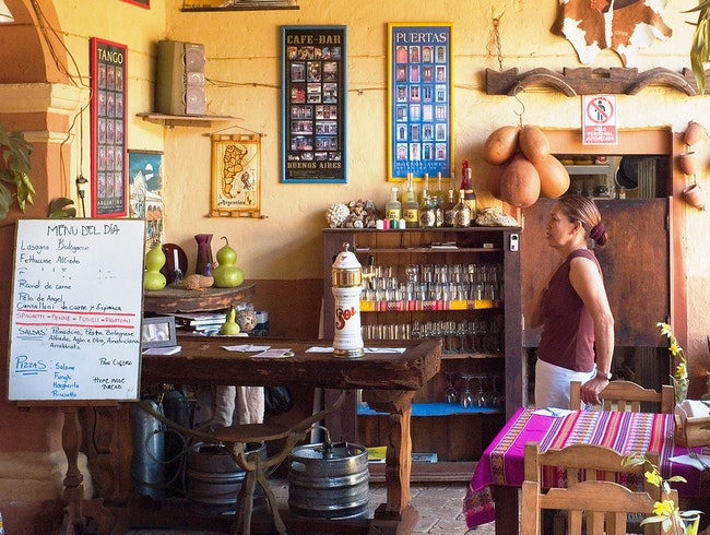 A colorful bar off the beaten path in Mexico