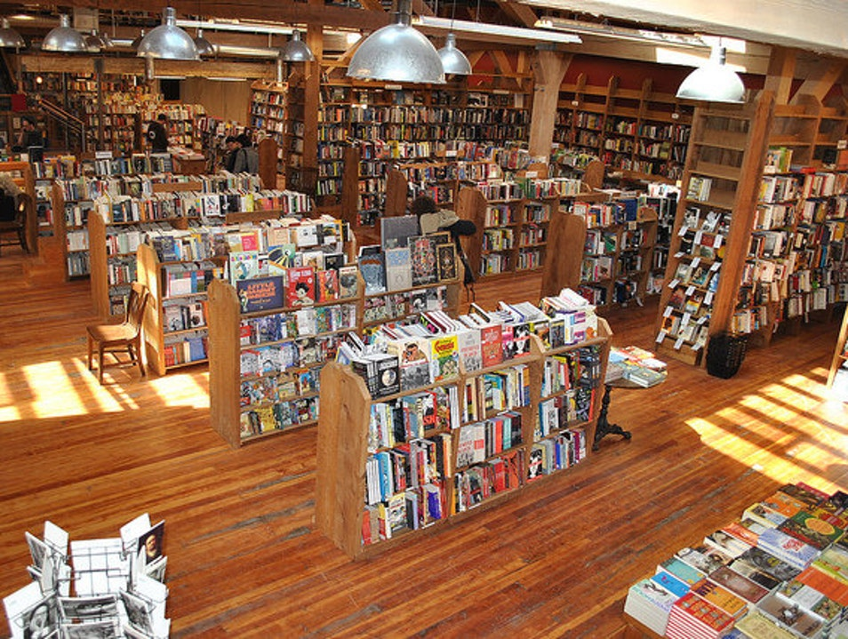 Books and Lattes at Elliott Bay Book Company in Capitol Hill Seattle Washington United States