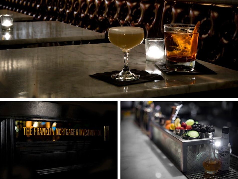 Prohibition-Era Cocktails at The Franklin Bar Philadelphia Pennsylvania United States