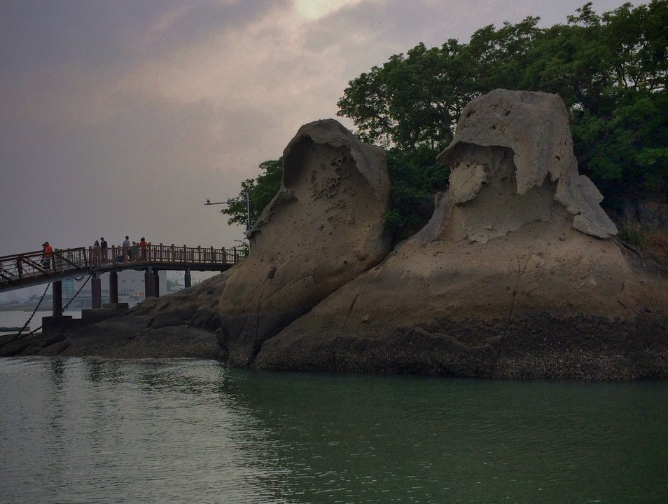 "The ""Gatbawi"" rocks on Korea's SW shore"