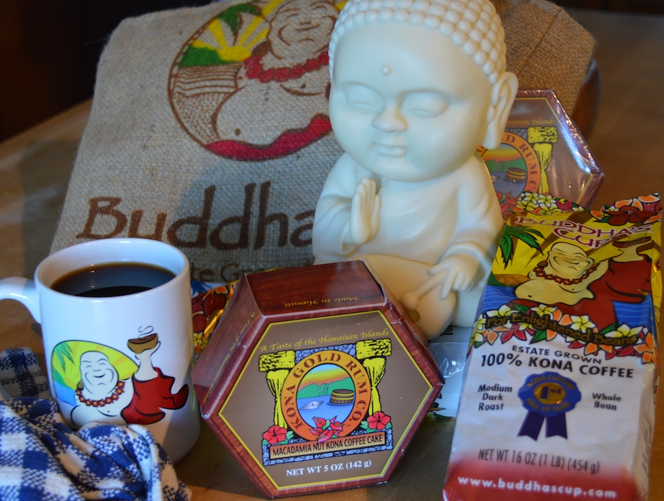 """For Enlightened Beans"" : Buddha's Cup  Kona Coffee Hōlualoa Hawaii United States"