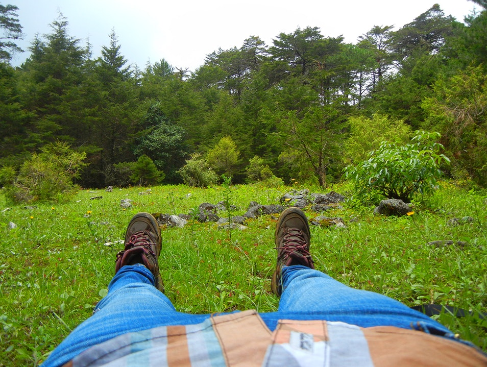Lying on the ground, feeling the soil  Jalpan De Serra  Mexico