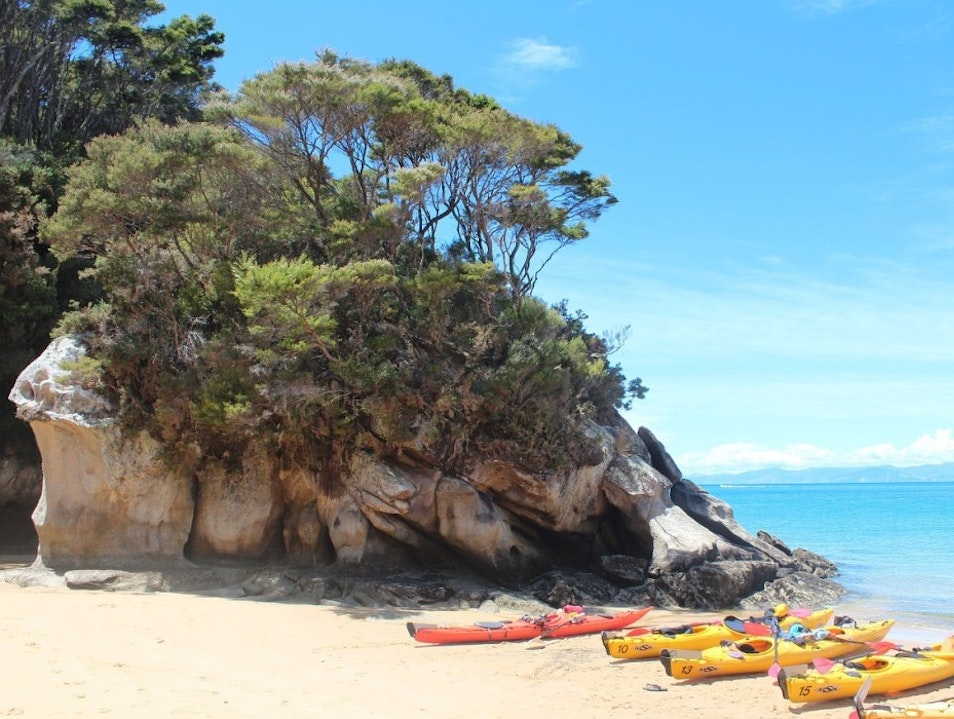Kayaking in the Abel Tasman National Park, New Zealand South Island  New Zealand