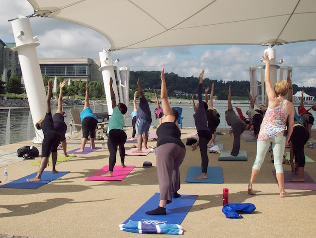 Free Yoga on the Potomac