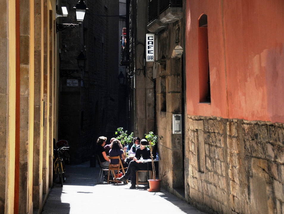 A Quiet Place For Lunch Barcelona  Spain