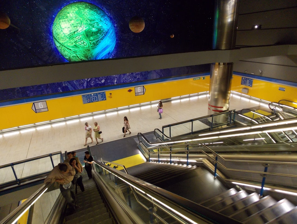 A metro to the stars! Madrid  Spain