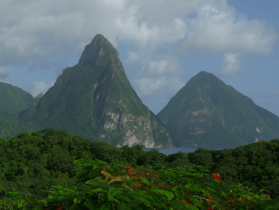 Anse Chastanet daily view Soufriere  Saint Lucia