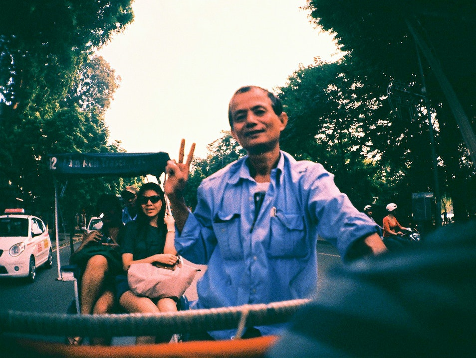 Hitch a Ride in a Cyclo Hanoi  Vietnam