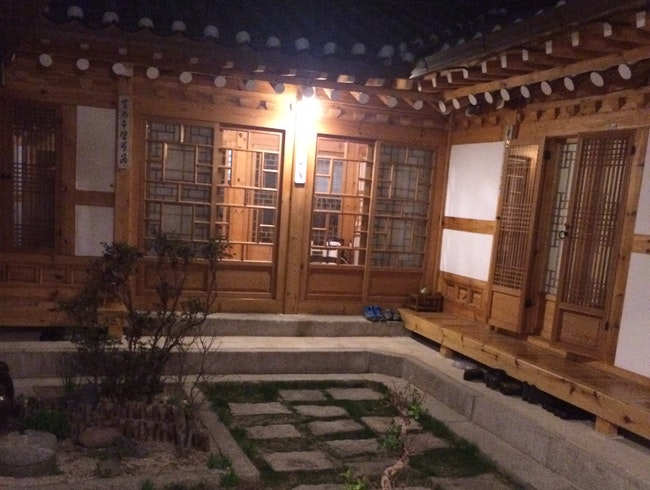 A warm, welcoming traditional Korean house