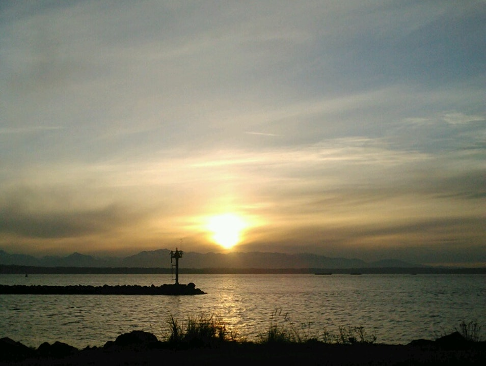 Sunset at Golden Gardens Seattle Washington United States