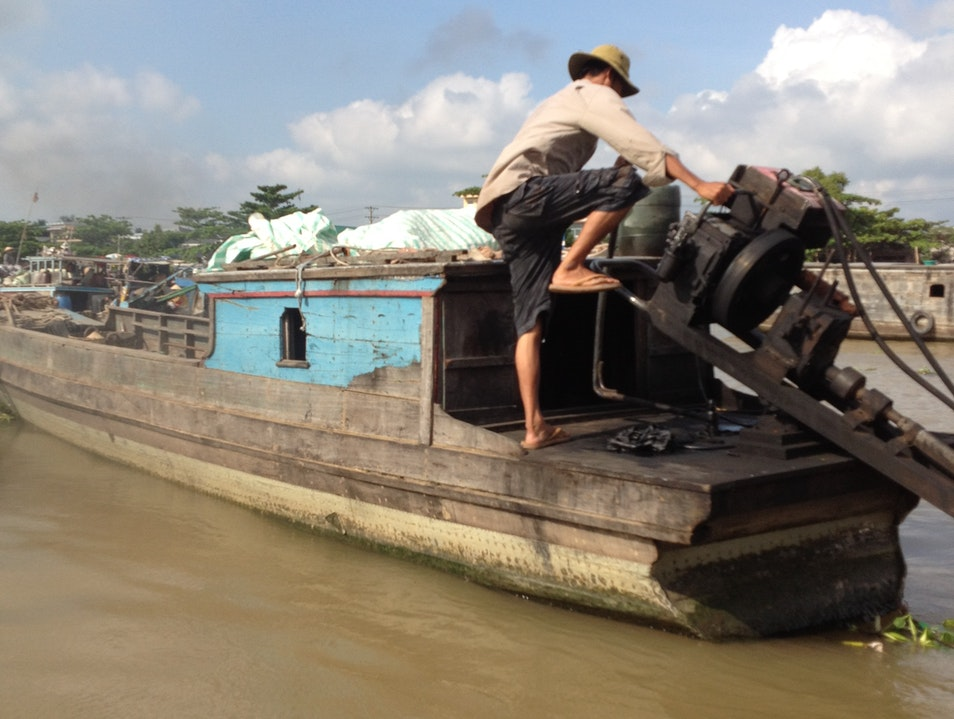 Buying and selling on the river Can Tho  Vietnam