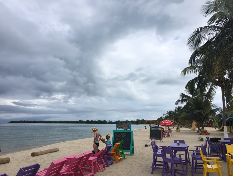 Colorful, Snarky Eats and Drinks at a Belizean Sports and Karaoke Bar Placencia  Belize