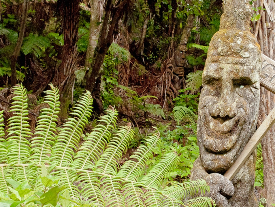 Sculpture Trail at Lochmara Bay Onahau Bay  New Zealand